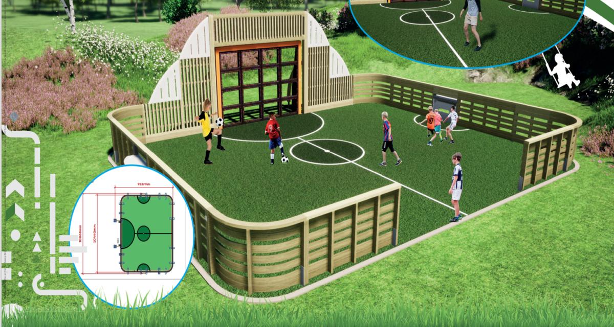 Interaktiv ballvegg / Ballbinge – Åpner våren 2021